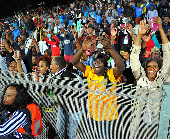 Fans during the 2015 Bokone Bophirima Maize Triangle Challenge Final match between Platinum Stars and Mpumalanga Black Aces at the Moruleng Stadium in Rustenburg, South Africa on July 11, 2015 ©Samuel Shivambu/BackpagePix
