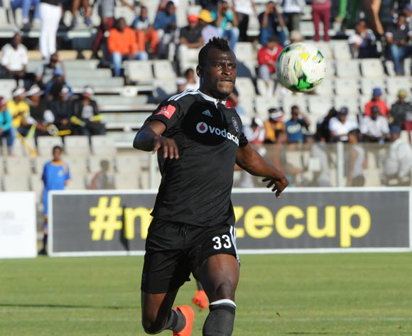 Edwin Gyimah of Orlando Pirates  during the 2016 Maize Cup match between Platinum Stars and Orlando Pirates  13 August 2016 at Moruleng Stadium Pic Sydney Mahlangu/ BackpagePix