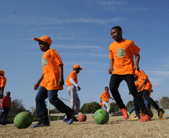 Gv of the clinix during the 2017 Maize Cup Soccer Clinix on the 14 July 2017 at Umzimuhle Sports Ground, Orkney  © Sydney Mahlangu /BackpagePix