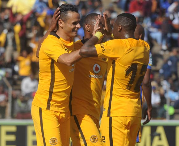Gustavo Paez of Kaizer Chiefs celebrates a goal with teammatees during the 2017 Maize Cup match between Kaizer Chiefs and Township Rollers  on the 15 July 2017 at James Motlatsi Stadium, Orkney  © Sydney Mahlangu /BackpagePix