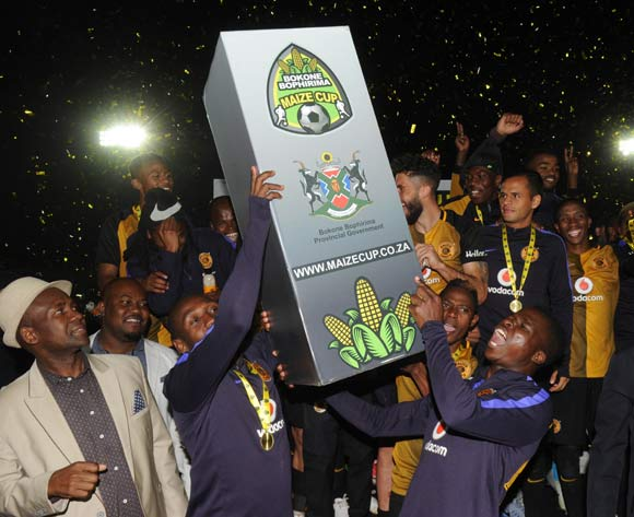 Kaizer Chiefs celebrate being crowned Champions during the 2017 Maize Cup match between Free State Stars and Kaizer Chiefs   on the 15 July 2017 at James Motlatsi Stadium, Orkney  © Sydney Mahlangu /BackpagePix